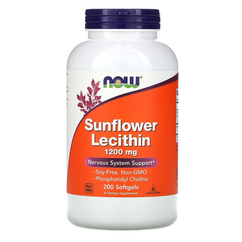 Now Foods, Sunflower Lecithin, 1,200 mg, 200 Softgels