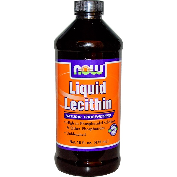 Now Foods, Liquid Lecithin, 16 fl oz (473 ml) (Discontinued Item)
