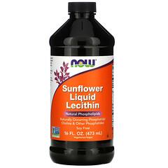 Now Foods, 液體向日葵卵磷脂,16 液量盎司(473 毫升)