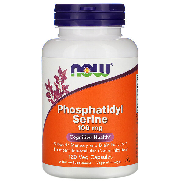 Now Foods, Fosfatidilserina, 100 mg, 120 Cápsulas
