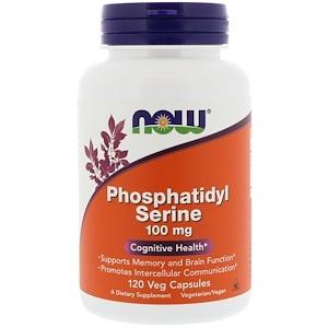 Now Foods, Фосфатидилсерин, 100 мг, 120 капсул