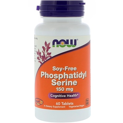 Купить Фосфатидилсерин, без сои, 150 мг, 60 таблеток