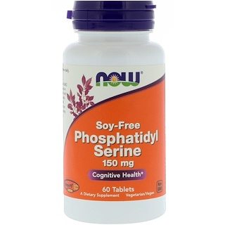 Now Foods, Phosphatidyl Serine, Soy-Free, 150 mg, 60 Tablets