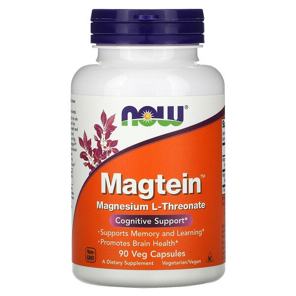Now Foods, Magtein, Magnesium L-Threonate, 90 Veg Capsules