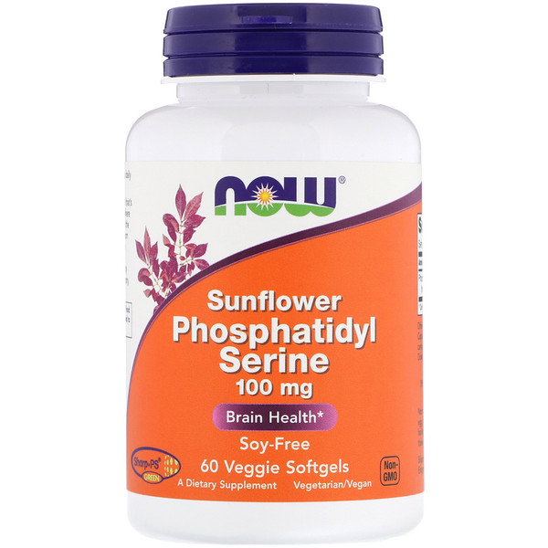 Now Foods, Sunflower Phosphatidyl Serine, 100 mg,  60 Veggie Softgels