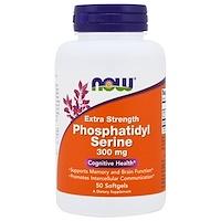 Фосфатидилсерин Extra Strength, 300 мг, 50 желатиновых капсул - фото