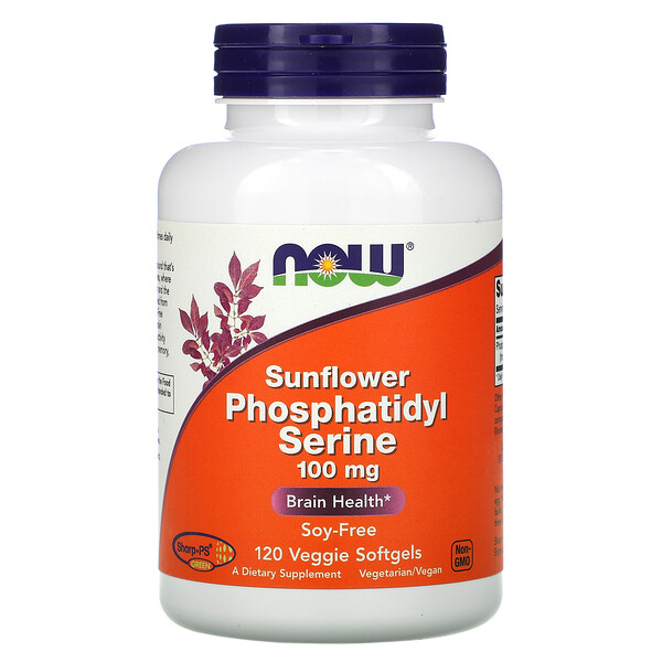 Sunflower Phosphatidyl Serine, 100 mg, 120 Veggie Softgels