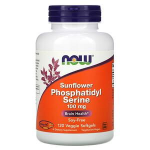 Now Foods, Sunflower Phosphatidyl Serine, 100 mg, 120 Veggie Softgels отзывы