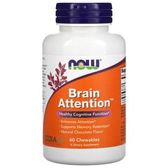 Now Foods, Brain Attention,天然巧克力味,60 片咀嚼片