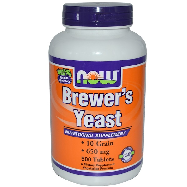 Now Foods, Brewer's Yeast, 650 mg, 500 Tablets (Discontinued Item)