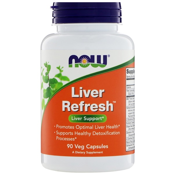 Now Foods, Liver Refresh، 90 كبسولة نباتية