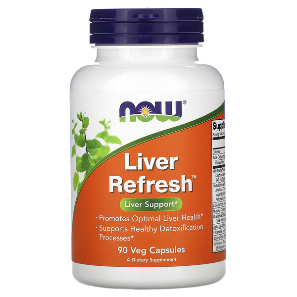 Now Foods, Liver Refresh, 90 cápsulas vegetales