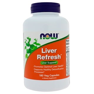 Now Foods, Liver Refresh, 180 Cápsulas vegetais