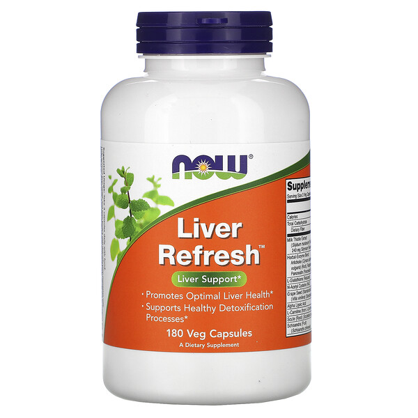 Now Foods, Liver Refresh, 180 comprimidos vegetarianos