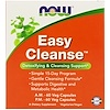 Now Foods, Easy Cleanse, 2 Bottles, 60 Veg Capsules Each