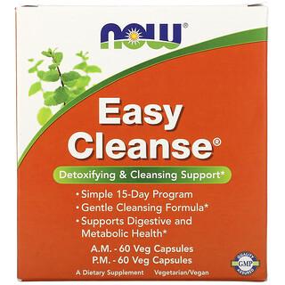 Now Foods, Easy Cleanse، زجاجتان، 60 كبسولة نباتية بكل منها