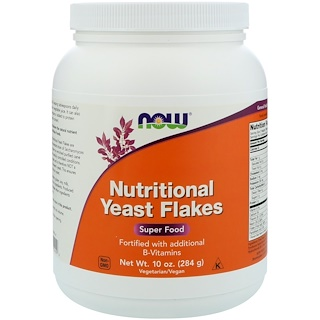 Now Foods, Flocos de Levedura Nutritiva, 10 oz (284 g)