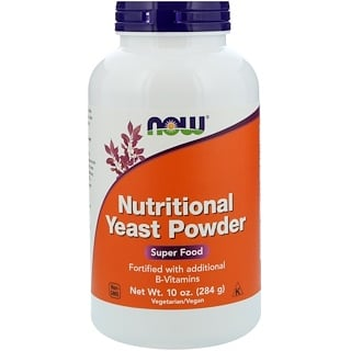 Now Foods, Nutritional Yeast Powder, 10 أونصة (284 غ)