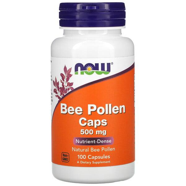 Bee Pollen Caps, 500 mg, 100 Capsules