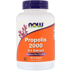 Now Foods, Propolis 2000 5:1 Extract, 90 Softgels