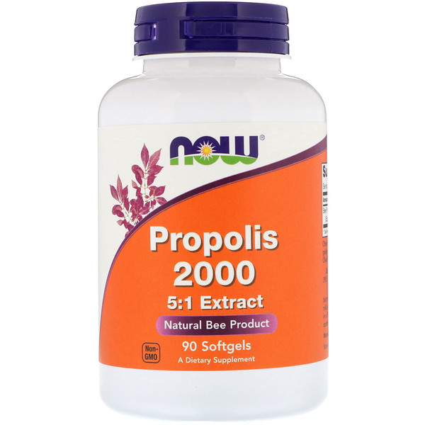 Now Foods, Propolis 2000, 5:1 Extract, 90 Softgels