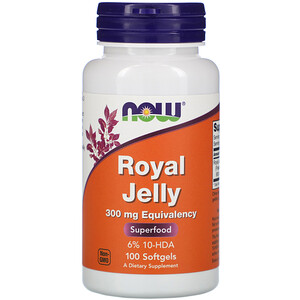 Now Foods, Royal Jelly, 300 mg, 100 Softgels отзывы