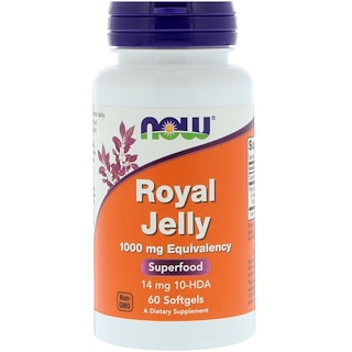 Now Foods, Royal Jelly, 60 Softgels