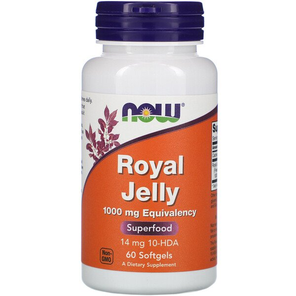 Now Foods, Royal Jelly, 1,000 mg, 60 Softgels