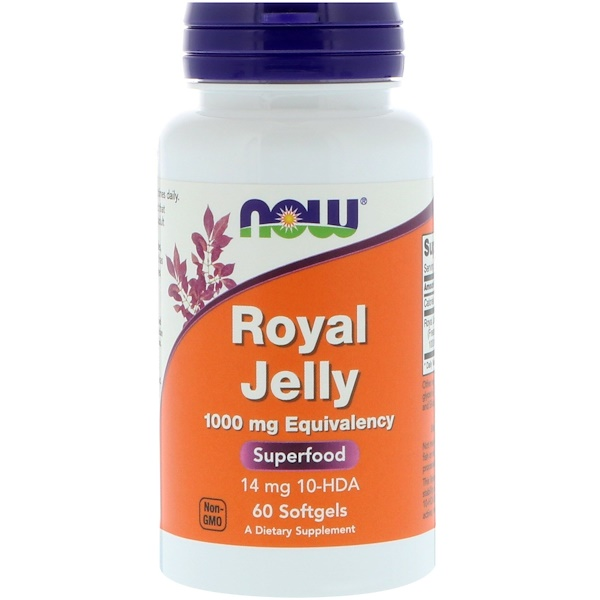 Now Foods, Royal Jelly, 1000 mg, 60 Softgels