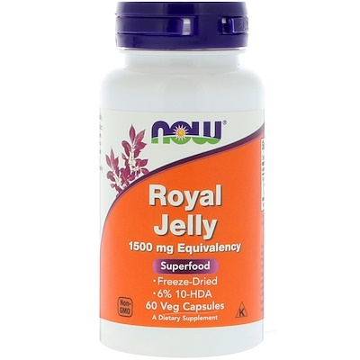 Royal Jelly, 1,500 mg, 60 Veg Capsules