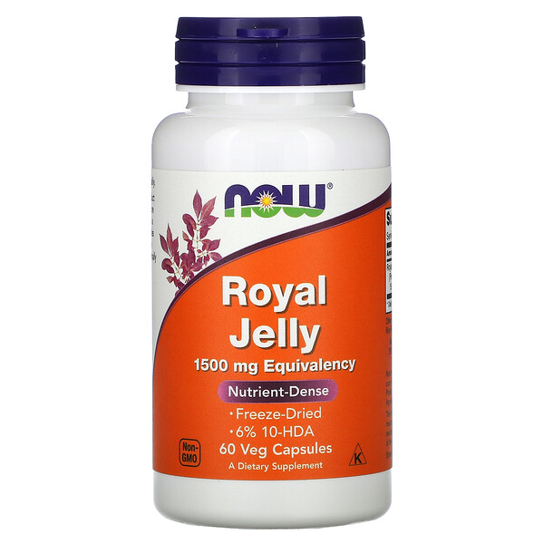 Royal Jelly, 1,500 mg, 60 Veg Capsules