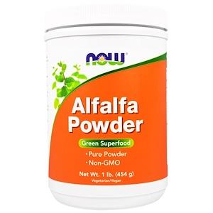 Now Foods, Alfalfa Powder, 1 lb (454 g) отзывы покупателей
