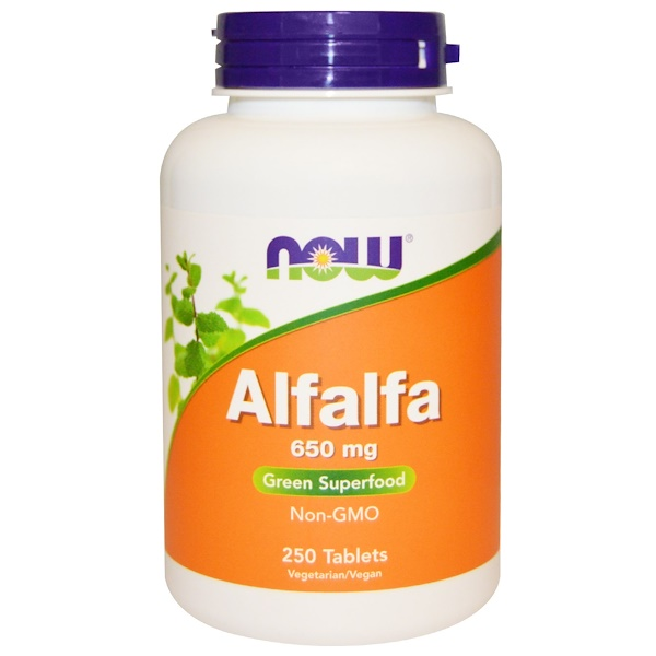 Now Foods, Alfalfa, 650 mg, 250 Tablets