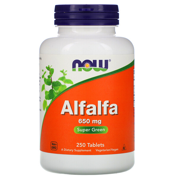 Alfalfa, 650 mg, 250 Tablets