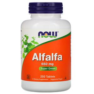 Now Foods, Alfalfa, 650 mg, 250 Tablets отзывы покупателей