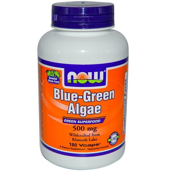 Now Foods, Blue-Green Algae, 500 mg, 180 Veggie Caps (Discontinued Item)