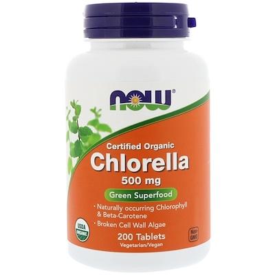 Сертифицированная органическая хлорелла, 500мг, 200таблеток стоимость
