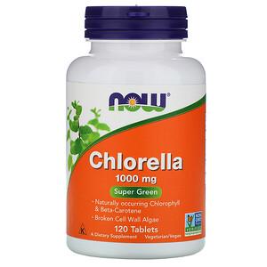 Now Foods, Chlorella, 1,000 mg, 120 Tablets отзывы покупателей