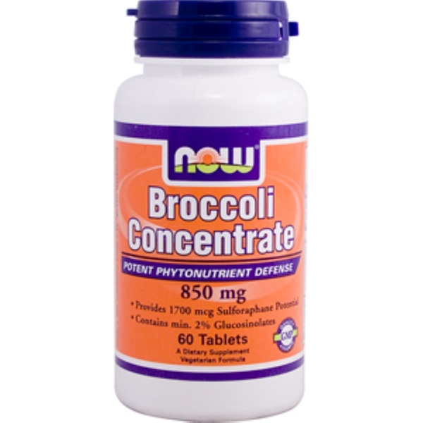 Now Foods, Broccoli Concentrate, 850 mg, 60 Tablets (Discontinued Item)