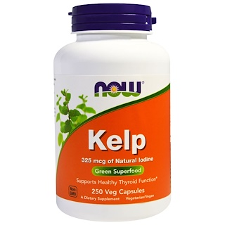 Now Foods, Kelp, Green Superfood, 250 Veggie Caps
