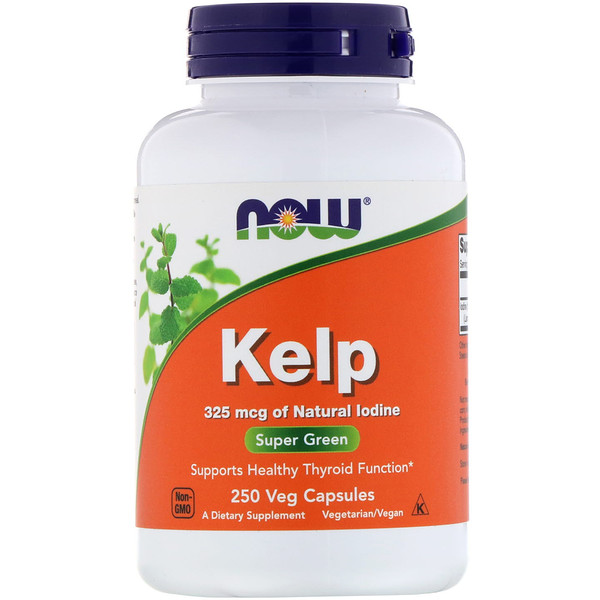 Now Foods, Kelp, 250 cápsulas