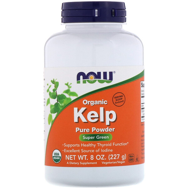 Now Foods, Quelpo orgánico, polvo puro, 8 oz (227 g)