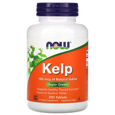 Купить Now Foods Келп, 150 мкг, 200 таблеток