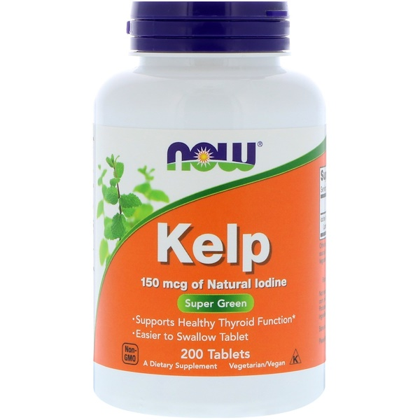 Now Foods, Algas Kelp, 150 mcg, 200 Comprimidos