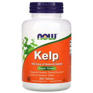 Now Foods, Kelp, 150 mcg, 200 Tablets отзывы покупателей