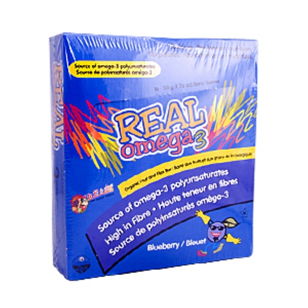Now Foods, Real Omega 3 Blueberry Bars, 16-50 g (1.76 oz) Bars (Discontinued Item)