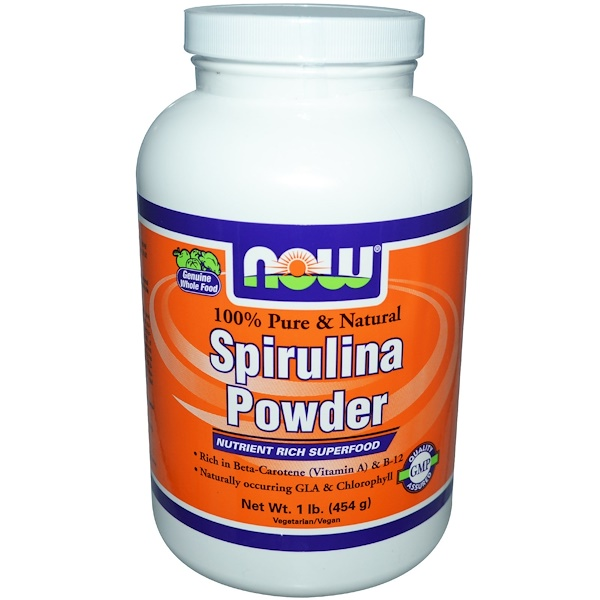 Now Foods, Spirulina Powder, 1 lb (454 g) (Discontinued Item)