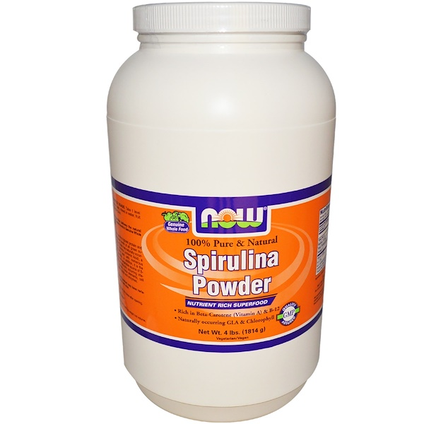 Now Foods, Spirulina Powder, 100% Pure & Natural, 4 lbs (1814 g) (Discontinued Item)