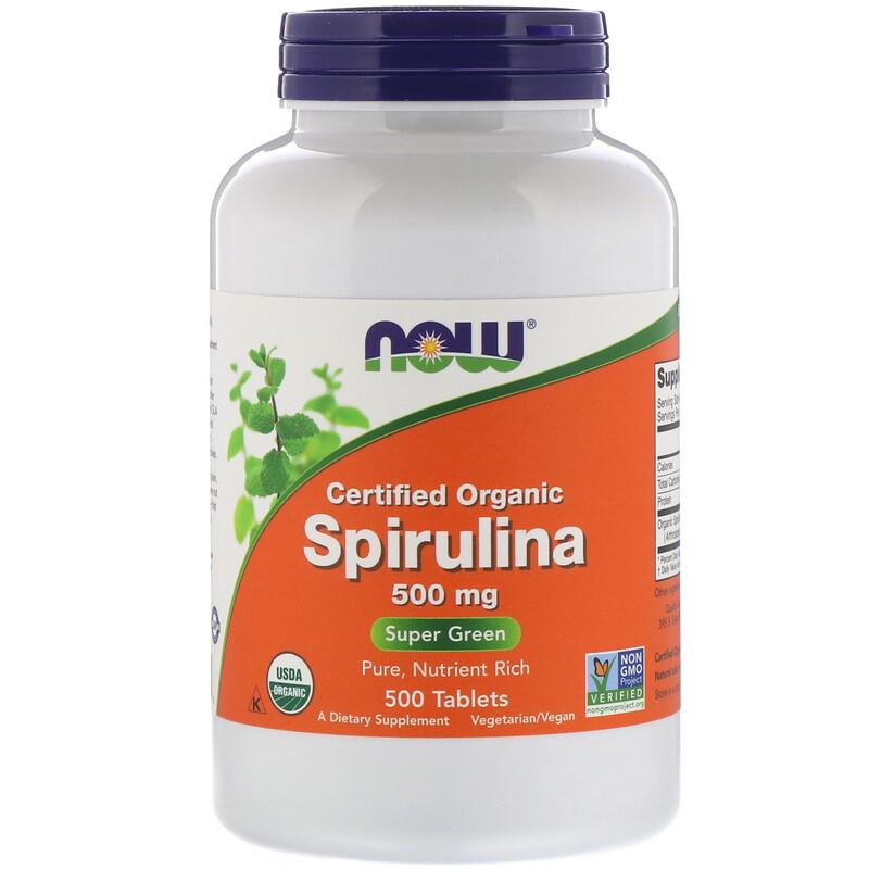 Certified Organic Spirulina, 500 mg, 500 Tablets