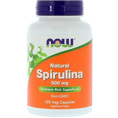 Натуральная спирулина, 500 мг, 120 растительных капсул стоимость